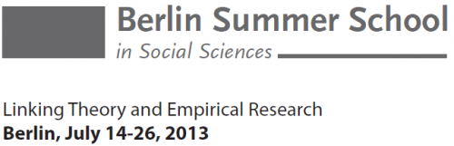 Berlin Summer School 2013