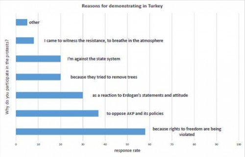 Reasons for demonstrating in Turkey