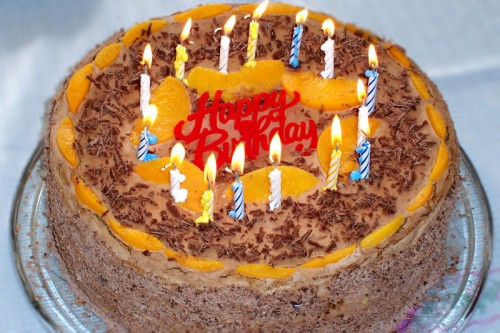 Birthday cake (image credit: Wikimedia Commons)