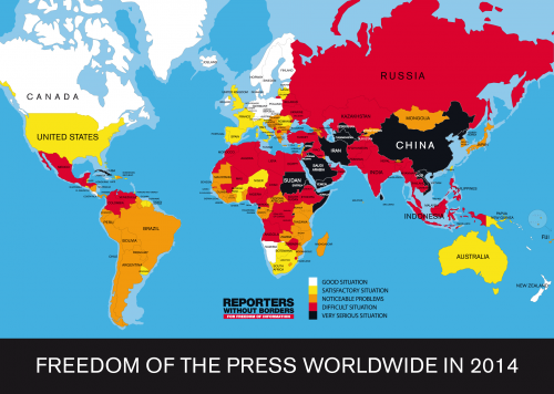 Reporters Without Borders - World Press Freedom 2014