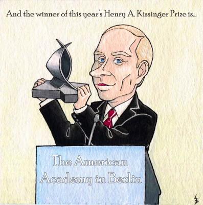 Putin wins a prize