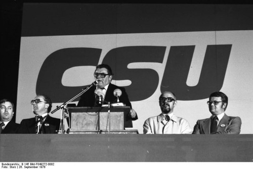 CSU leadership in Bavaria, 1976 (CC Wikimedia Commons)